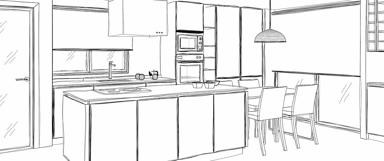 Cocina office en lledo k2 decoraci n for Dimensiones de cocinas pequenas